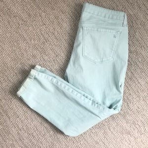Jessica Simpson rolled crop skinny pale blue